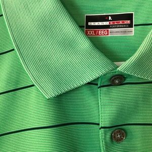 NEW Grand Slam Performance XXL Green Polo